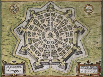 Palmanuova Old Map, North-Eastern Italy, From Civitates Orbis Terrarum