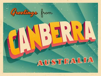 Vintage Touristic Greeting Card - Canberra, Australia