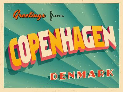 Vintage Touristic Greeting Card - Copenhagen, Denmark