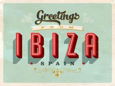 Vintage Touristic Greeting Card - Ibiza, Spain