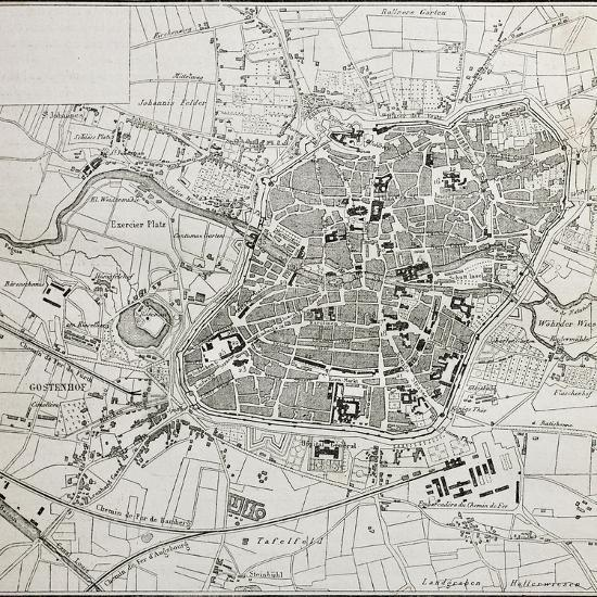 Old Map Of Nuremberg Germany Posters By Marzolino At Allposters Com