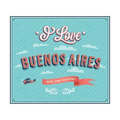Vintage Greeting Card From Buenos Aires - Argentina