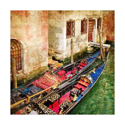 Gondolas Of Amazing Venice - Artistic Picture