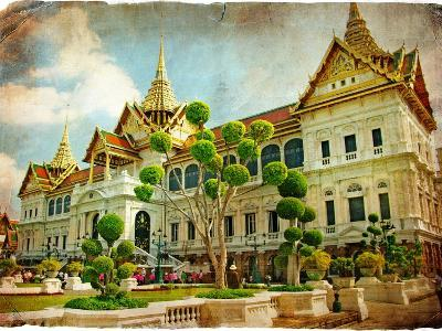 Grand Palace - Bangkok - Retro Styled Picture