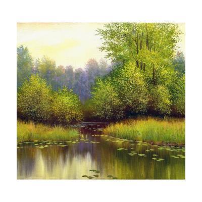 Beautiful Summer Landscape, Canvas, Oil