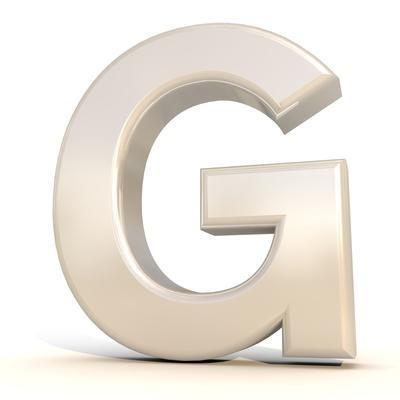 3D Alphabet, Letter G Isolated On White Background