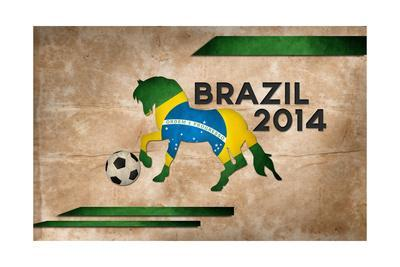 Year Of Football And Horse Of Brazil 2014