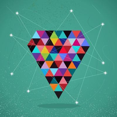 Trendy Triangle Diamond Illustration