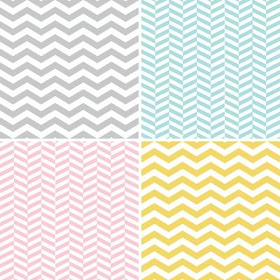 Set of Zigzags and Chevrons