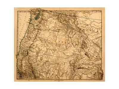 Old Map Of The Us Pacific Northwest
