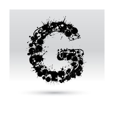 Letter G Formed By Inkblots