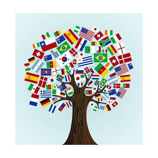 Flags Of The World Tree Posters By Cienpies At AllPosters.com
