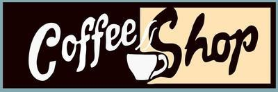 Coffee Shop Sign Or Banner