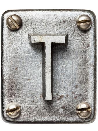 Old Metal Alphabet Letter T