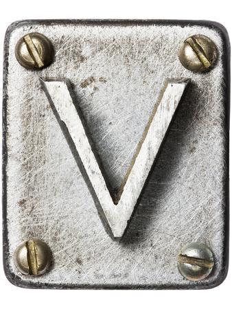 Old Metal Alphabet Letter V