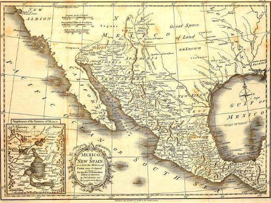 Map Of Mexico Dated 1821 Poster by Tektite at AllPosters.com