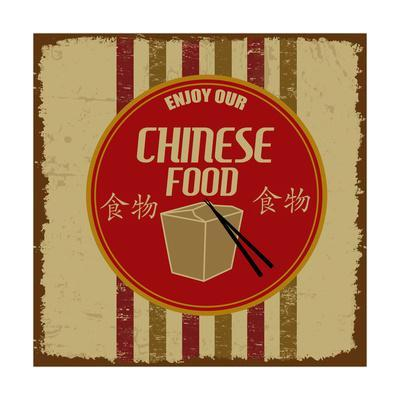 Chinese Foods Vintage Poster