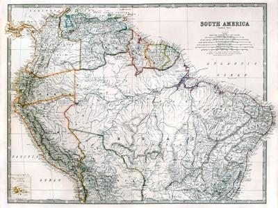 Old Map Of Northern South America