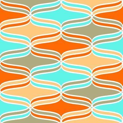Geometric Wavy Lines Pattern