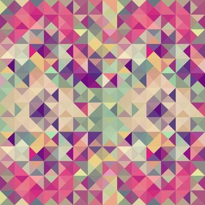 Pink Geometric Pattern