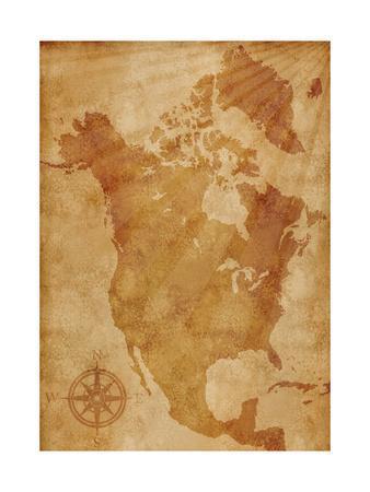 North America Map Illustration