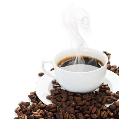 Coffee Border.Isolated On White