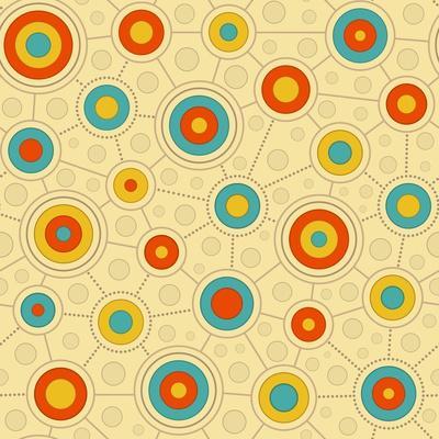 Circular Pattern In Retro Colors