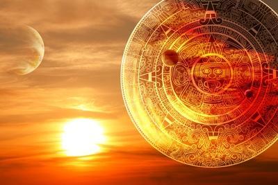 Fantasy Sunset And Maya Calendar