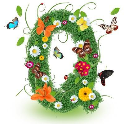 """Beautiful Spring Letter """"Q"""""""