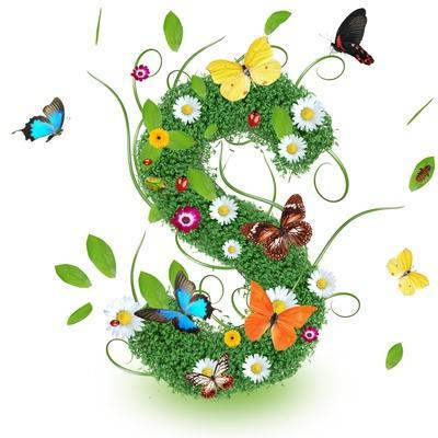 """Beautiful Spring Letter """"S"""""""