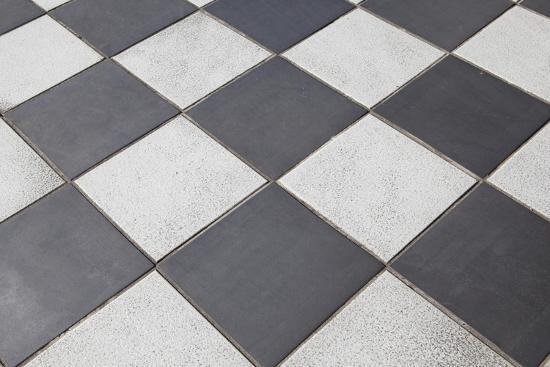 Black And White Tiled Floor Prints By Landio At Allposters