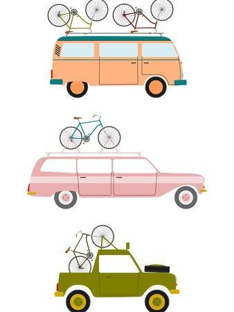 Cars Transporting Bicycles