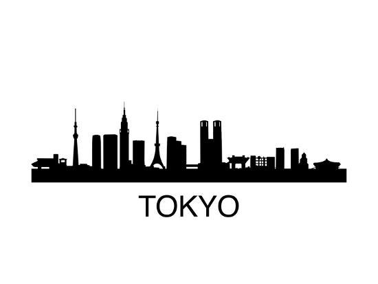 Tokyo Skyline Prints by unkreatives at AllPosters.com