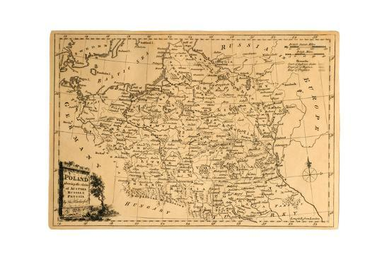 Old Map Of Poland The Old Map Of Poland on