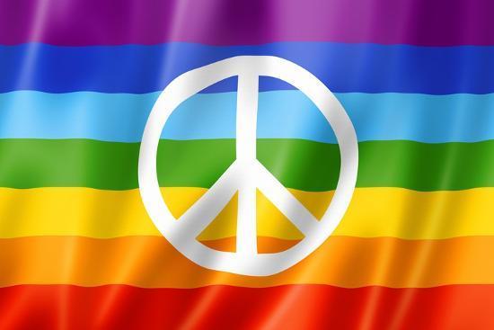Rainbow Peace Flag' Prints - daboost | AllPosters.com