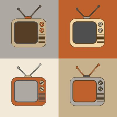 Retro Tv Set Icons