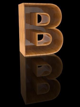 Wooden Letter B