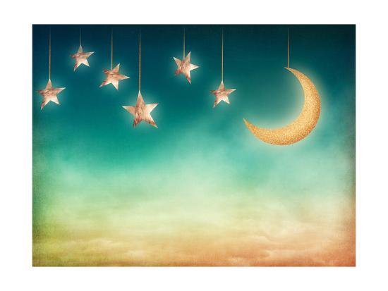 Moon And Stars Art By Egal At Allposters Com