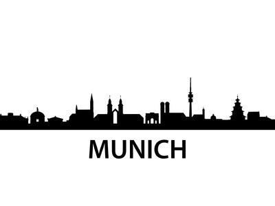 Munich Skyline Poster by unkreatives at AllPosters.com