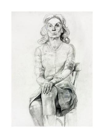 Woman Sitting Sketch