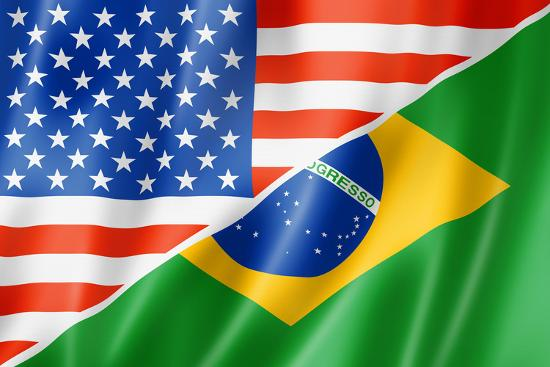 Usa And Brazil Flag Prints By Daboost At Allposters Com