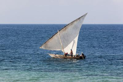 Dhow on Indian Ocean, Stone Town, Zanzibar, Tanzania
