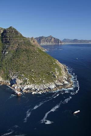 Aerial of Bos 400 Shipwreck, Duiker Point, Cape Town, South Africa