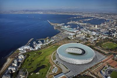 Aerial of Cape Town Stadium, Cape Town, South Africa