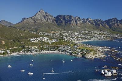 Aerial of Clifton Beach and Camps Bay, Cape Town, South Africa