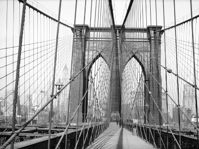 Brooklyn Bridge, 1948, New York, USA