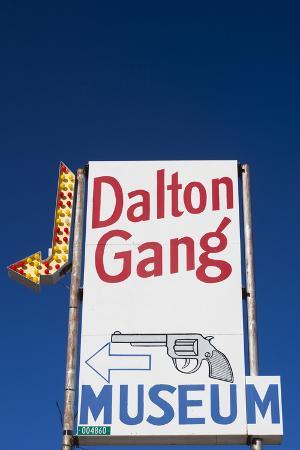 Dalton Gang Hideout and Museum Sign, Meade, Kansas, USA