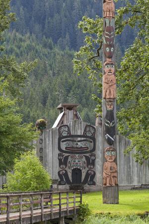 View of Chief Shakes Tribal House, Wrangell, Alaska, USA