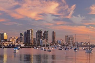 Sunset View of Marina and Downtown, San Diego, California, USA