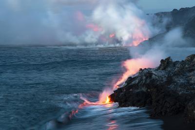 Nighttime Lava Flow, the Big Island, Kilauea, Hawaii, USA